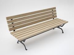 Panchina in legno con schienale RETRÒ | Panchina in legno -