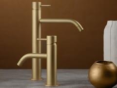 Miscelatore per lavabo da piano monocomandoREVERSO FROSTED CHAMPAGNE - RUBINETTERIE RITMONIO
