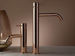 Miscelatore per lavabo da piano monocomandoREVERSO ROSE GOLD - RUBINETTERIE RITMONIO