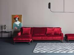 Divano in tessuto a 3 posti con chaise longueREVIVAL   Divano con chaise longue - TWILS