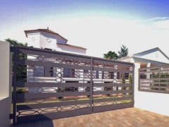 Cancello a doppio battente in ferroRI-CLASSICO 832 - FABBRIDEA
