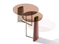 Tavolino rotondo in vetroRIALTO H - L - BELLANI