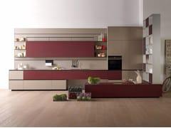 Cucina componibile in laminato grigio caldo cera RICICLANTICA LAMINATO - GRIGIO CALDO - Riciclantica