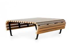 Panchina in rovere senza schienaleRIDDARHOLMEN | Panchina - NOLA INDUSTRIER