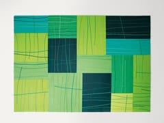 Tappeto rettangolare in lana a motivi geometrici RILIEVO | Tappeto rettangolare - Feltro