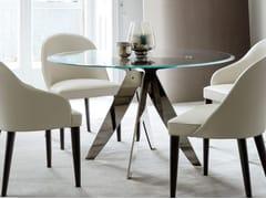 Tavolo da salotto rotondo in cristallo RING | Tavolo in cristallo -
