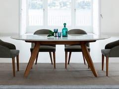 Tavolo da salotto ovale in marmo RING | Tavolo in marmo -