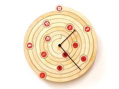 Orologio in compensato da pareteSPIRAL - ARDEOLA