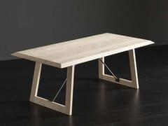 Tavolo da pranzo rettangolare in legno RIO + FLAT/ TIRANTI - ECOLAB 2