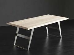 Tavolo da pranzo rettangolare in legno RIO  + IRON - ECOLAB 2