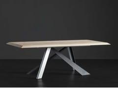 Tavolo da pranzo rettangolare in legno RIO + METAL - ECOLAB 2