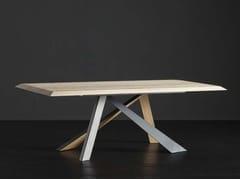 Tavolo da pranzo rettangolare in legno RIO + METAL/LEGNO - ECOLAB 2