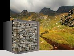 Rivestimento di facciata in pietra artificiale RIVAROLO P87 - Profilo SPONTANEO