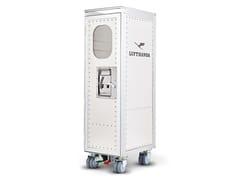 Carrello portavivande in alluminio anodizzatorivet rocker_new LH retrò with minibar - BORDBAR DESIGN