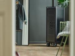 Carrello portavivande in alluminiorivet rocker_new black - BORDBAR DESIGN