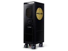 Carrello portavivande in alluminio anodizzatorivet rocker_new black Pan Am with bar - BORDBAR DESIGN