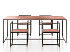 Tavolo rettangolare in metalloRIVIERA | Tavolo - DE CASTELLI