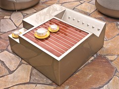 Tavolino da giardino quadrato con vassoioROADSTER | Tavolino quadrato - LONGHI