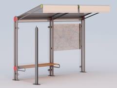 Pensilina in acciaio per fermata autobusROBIN | Pensilina per fermata autobus - DIMCAR
