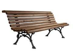 Panchina in legno con schienaleROBINIA - CALZOLARI