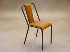 Sedia impilabile in acciaio con cuscino integratoROCHELLE   Sedia impilabile - DADRA