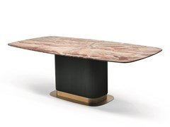 Tavolo rettangolare in marmo e legnoROCK N03 - SCAPPINI & C. CLASSIC FURNITURE