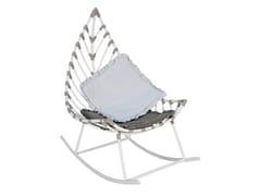 Poltroncina a dondolo da giardino in alluminioFOGLIA | Poltroncina a dondolo - CBDESIGN