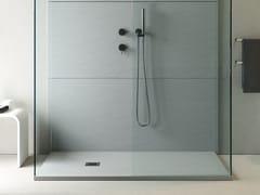 Piatto doccia antiscivolo incassato in MarmoresinaROCKY CLASSIC | Piatto doccia rettangolare - RELAX DESIGN