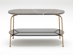 Tavolino alto ovale in marmo ROLF BENZ 947 | Tavolino -