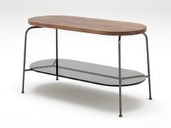 Tavolino alto ovale in legno ROLF BENZ 947 | Tavolino ovale -