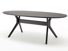 Tavolo da pranzo ovale in legno ROLF BENZ 965 | Tavolo ovale -