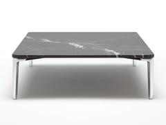 Tavolino basso quadrato in pietra da salotto ROLF BENZ 971 | Tavolino quadrato -