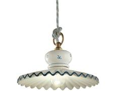Lampada a sospensione a luce diretta in ceramica in stile classico ROMA | Lampada a sospensione in ceramica - Roma