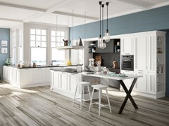 Cucina laccata con isola ROMANTICA 02 | Cucina con isola -
