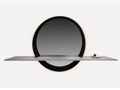 Specchio in legno con mensolaRONDO | Specchio con mensola - MORADA - HAUTE FURNITURE BOUTIQUE