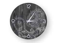 Orologio da parete in legno stuccatoROSE COLD | Orologio - LEONARDO TRADE