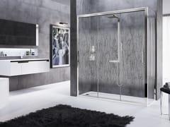 Box doccia angolare con porta scorrevole ROSE ROSSE 3P+F - Rose Rosse