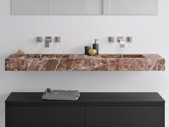 Lavabo doppio sospeso con piano ROSSO LEVANTO | Lavabo doppio -
