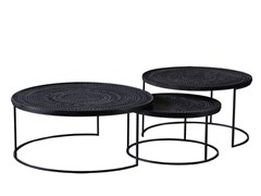 Tavolino da caffè rotondo in teak ANCESTORS TABWA   Tavolino rotondo - Ancestors Tabwa