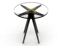 Tavolino alto rotondo in acciaio e vetroDEAN | Tavolino rotondo - GABRIEL SCOTT