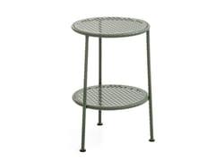 Tavolino rotondo in acciaioWORK IS OVER | Tavolino rotondo - MOROSO