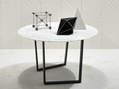 Tavolino rotondo in marmo DRITTO | Tavolino rotondo - Dritto