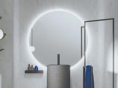 Specchio con illuminazione integrata da pareteFOUNT | Specchio rotondo - MOBIL CRAB