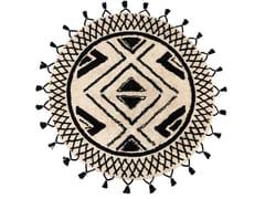 Tappeto rotondo in cotone a motivi geometriciSAMI | Tappeto rotondo - VIVARAISE