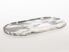 Vassoio ovale in marmoROUND TRAY ARABESCATO - TCC WHITESTONE