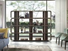 Libreria a giorno bifacciale in legnoROUND UP 240 - BARBA DESIGN