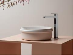 Lavabo da appoggio rotondo singolo in Cristalplant®RISE | Lavabo rotondo - KOS BY ZUCCHETTI