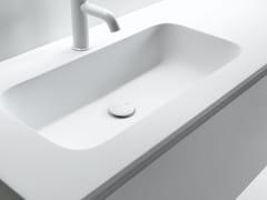 Lavabo in Ceramilux® con piano ROUNDLUX -