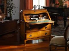 Scrittoio in legno massello con ante a ribalta e cassettiROUSSILLON - FABER MOBILI