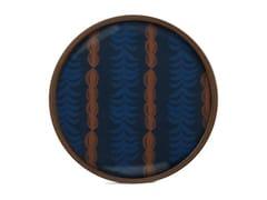 Vassoio rotondo in legno e vetroROYAL PALM - ROUND L - ETHNICRAFT